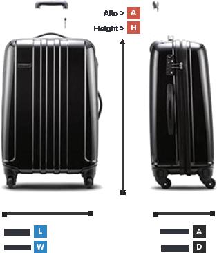 Wesak travel peso y medidas maletas - Medidas maletas de cabina ...